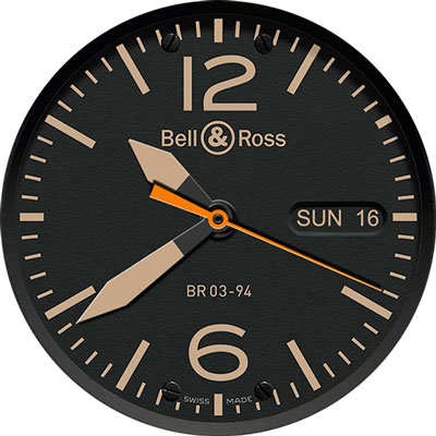 bell & ross lg g3 watch face