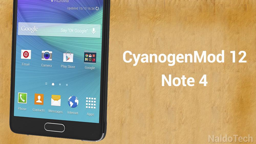 cyanogenmod 12 note 4 twrp