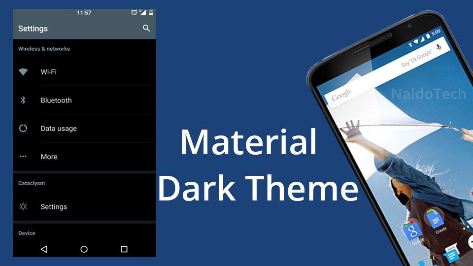 dark-material lollipop theme nexus 6