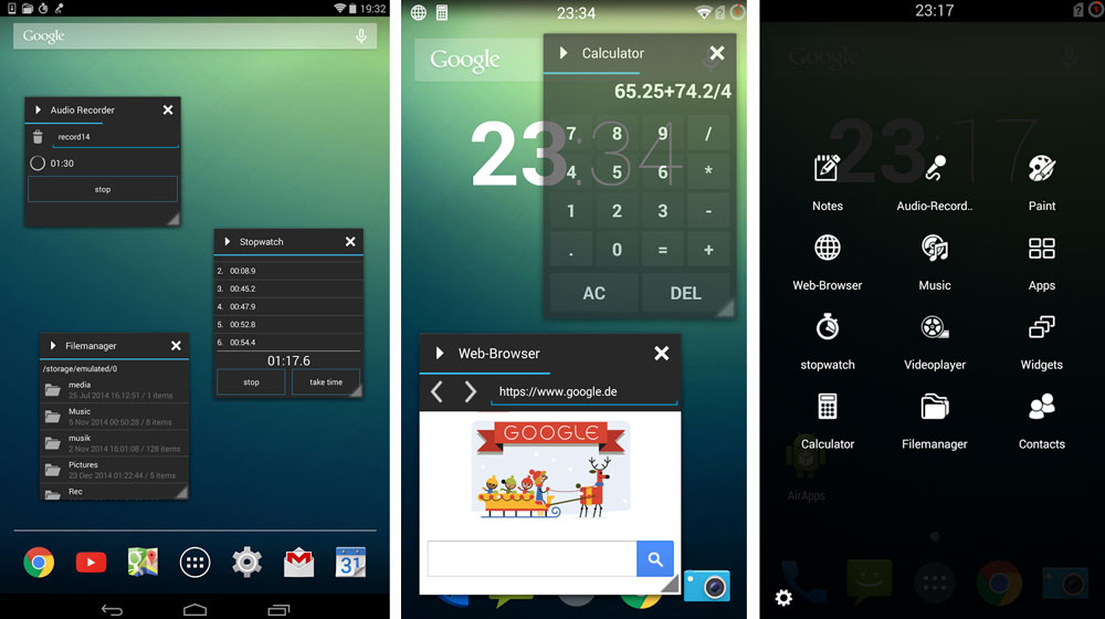 floating icon apps android