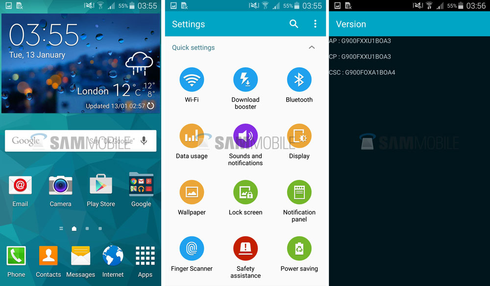 Calibrate display color android phones