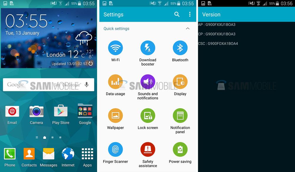Android 5 0 Lollipop G900FXXU1BOA3 Firmware for Samsung