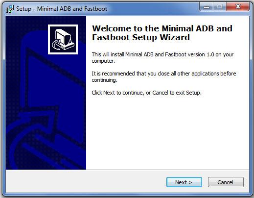 minimal adb fastboot install
