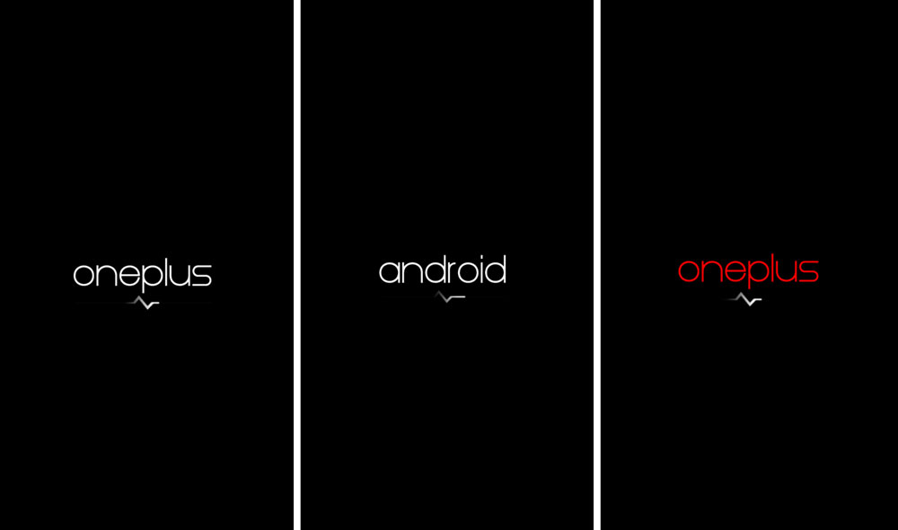 minimalistic custom boot animation oneplus one