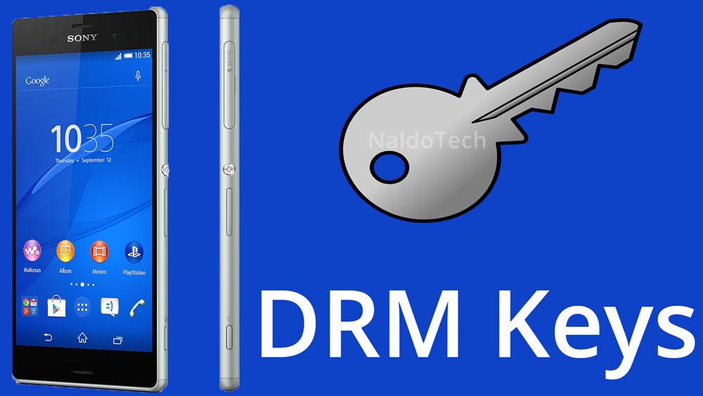 restore drm keys xperia unlocked bootloader
