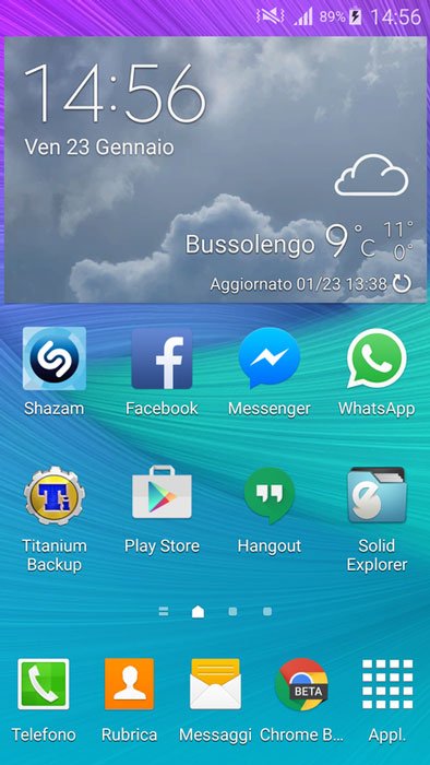 s5 accuweather weather widget