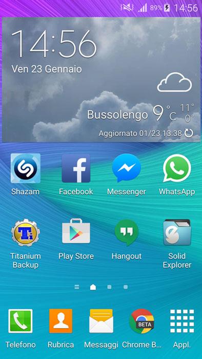 s5 accuweather weather widget