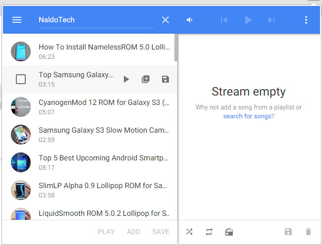 streamus youtube add song