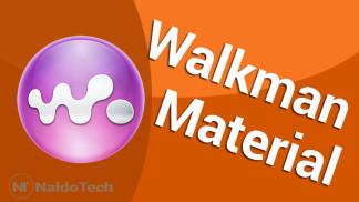 walkman material design lollipop