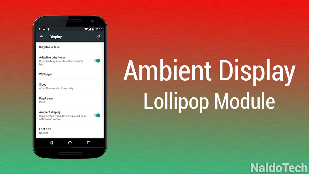 ambient display lollipop xposed module