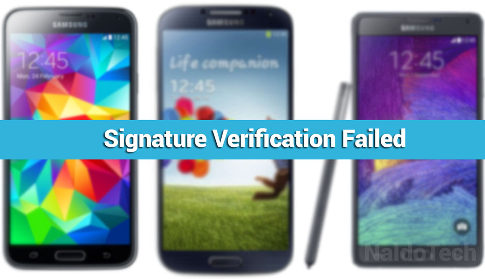 How To Fix Recovery Signature Verification Failed on Samsung Devices