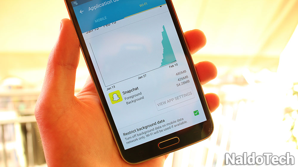 snapchat mobile data usage fix