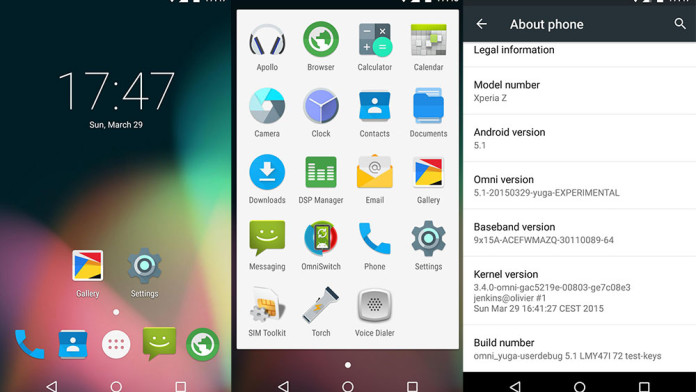 Install OmniROM & Update Xperia Z To Android 5 1 Lollipop