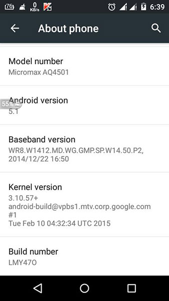 android one 5.1 update