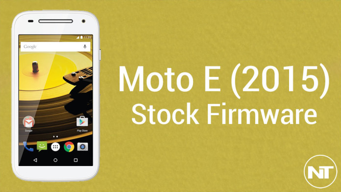 moto e 2015 stock firmware