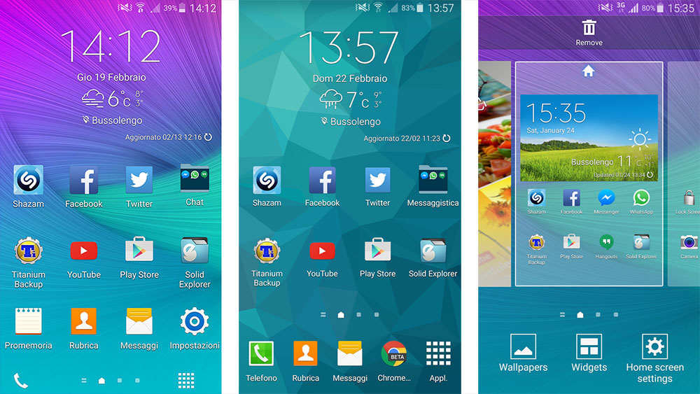 Download Galaxy Note 4 & Note Edge Launcher on Galaxy S4 (Lollipop
