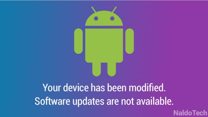 ota update error stock firmware