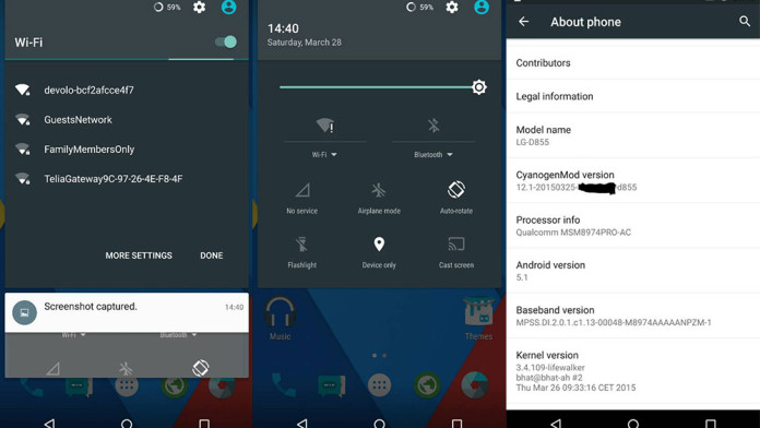 cyanogenmod 12.1 lg g3 android 5.1