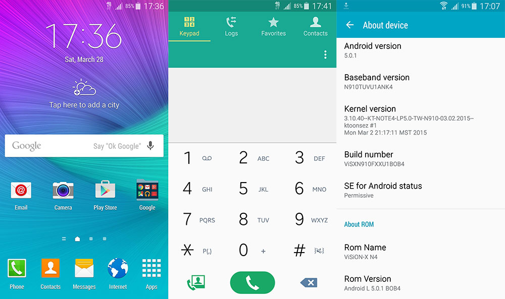 t-mobile note 4 lollipop rom