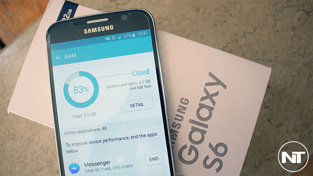 galaxy s6 high ram usage