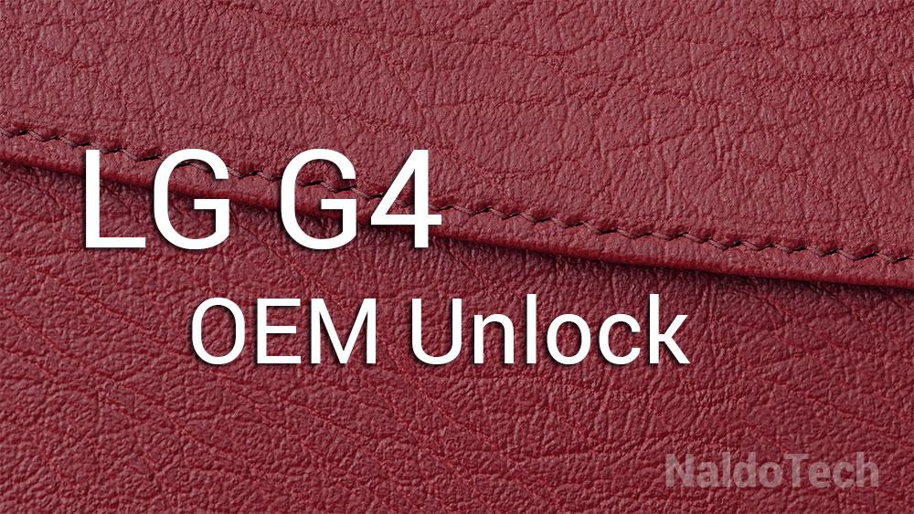 lg g4 oem unlock