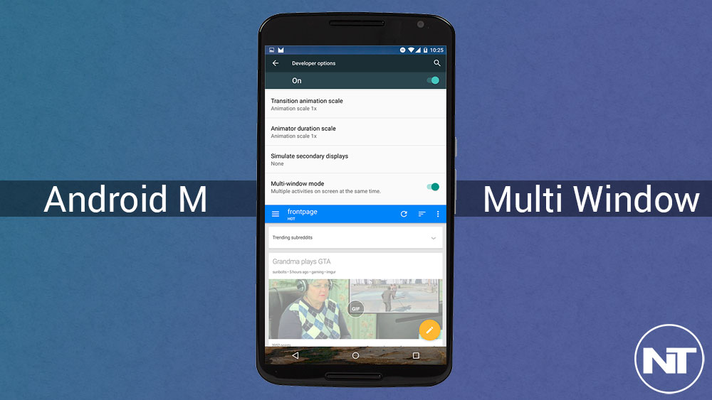 Easily Enable Multi Window Mode on Android M Developer