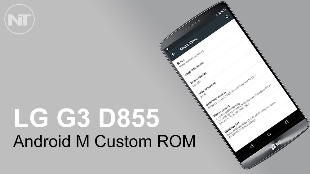Install Android M Custom ROM on LG G3 D855 - NaldoTech