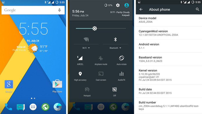 cyanogenmod 12 1 rom for asus zenfone 2 android 5 1 1