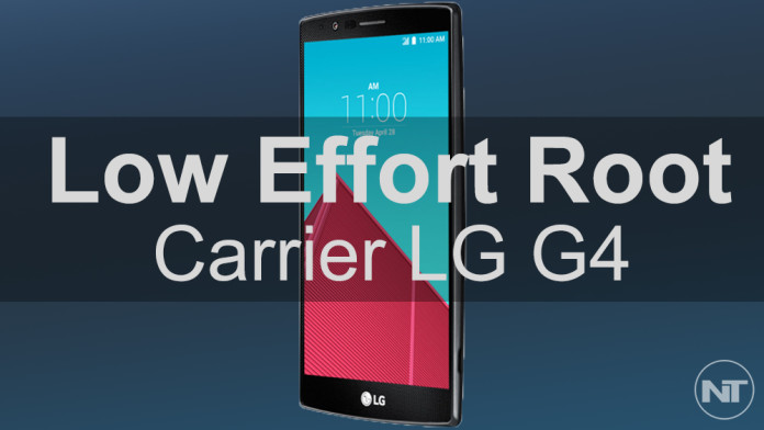 low effort root lg g4