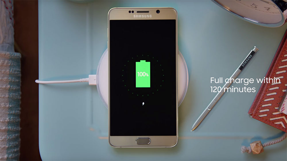 galaxy note 5 wireless charging