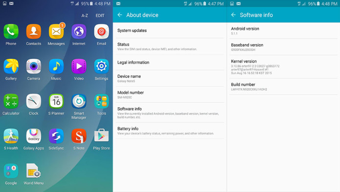 note 5 rom port s6