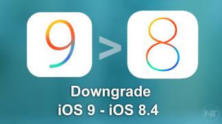downgrade ios 9 ios 8.4