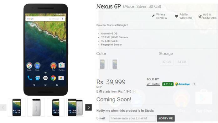 nexus 5x 6p preorder india