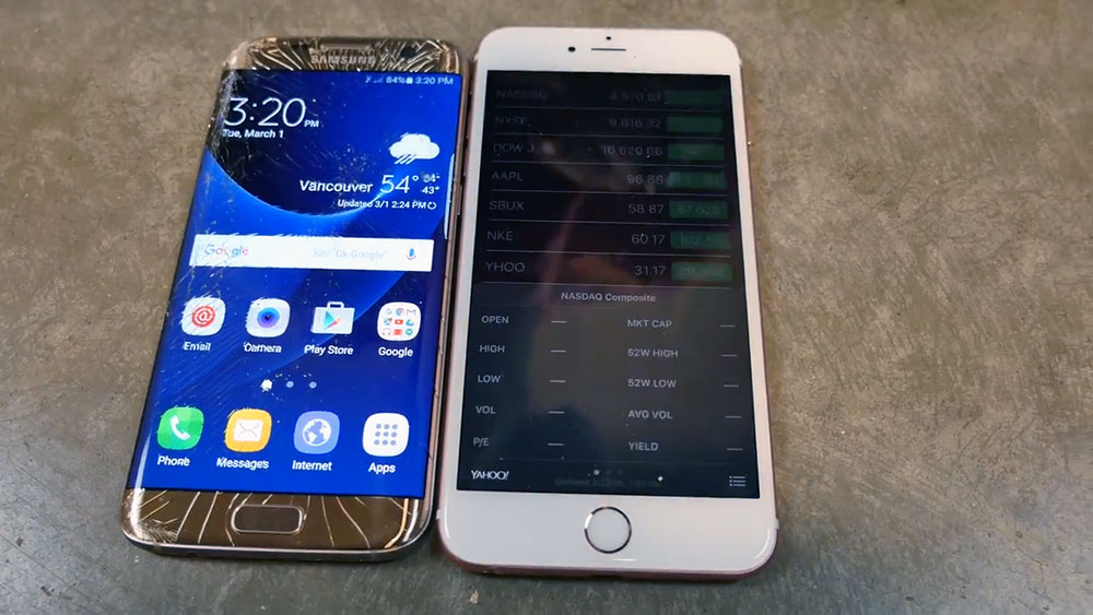 Samsung Galaxy S7 Edge Drop Test Vs Iphone 6s Plus Naldotech