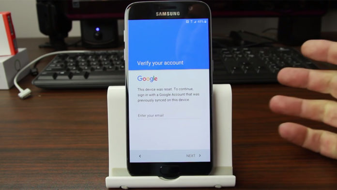 galaxy s7 factory reset protection
