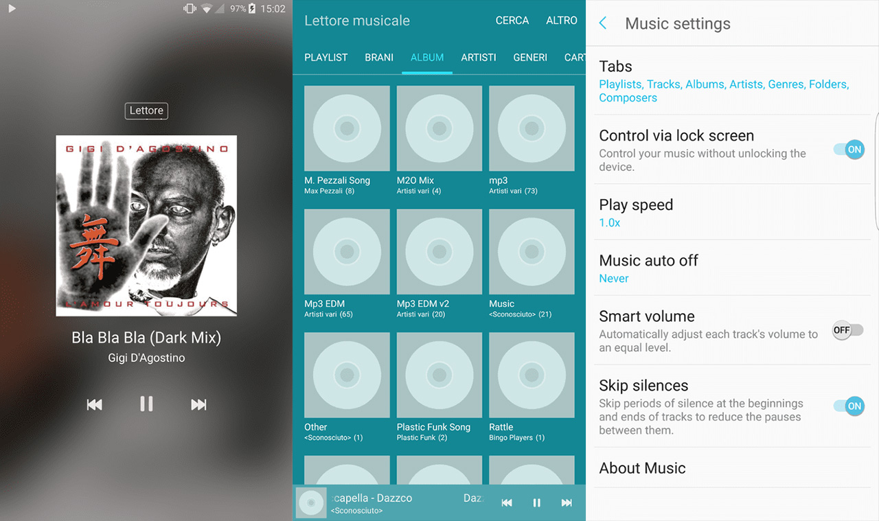 galaxy note 7 music player