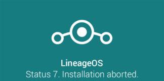 fix lineageos rom status 7 installation aborted error
