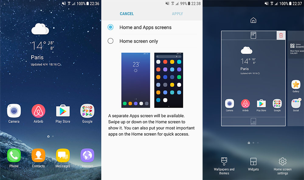 Install Samsung Galaxy S8 TouchWiz Launcher APK on All