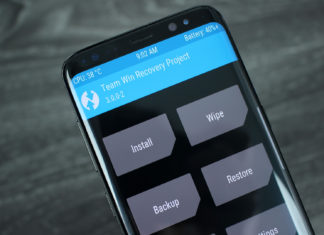 twrp galaxy s8 install custom recovery