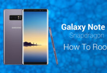 root galaxy note 8 snapdragon odin supersu