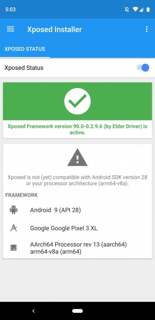 xposed framework apk android 9.0 pie screenshot 2