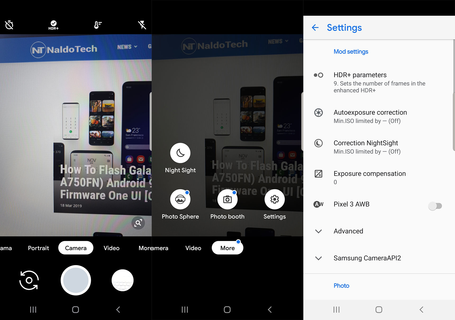 Install Google Camera APK with Night Sight on Galaxy S10