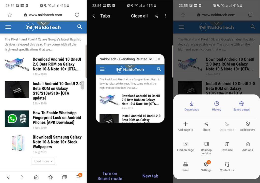 oneui 2 apps apk browser