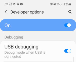usb debugging Galaxy M42