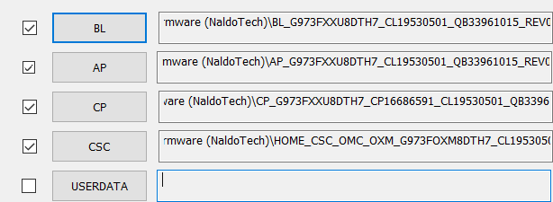 odin firmware files