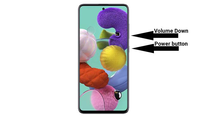 galaxy a51 screenshot key combination