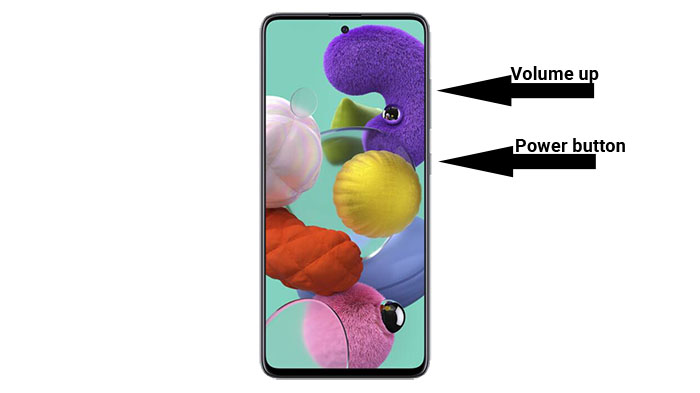 galaxy a51 recovery combination