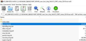 samsung firmware extracted