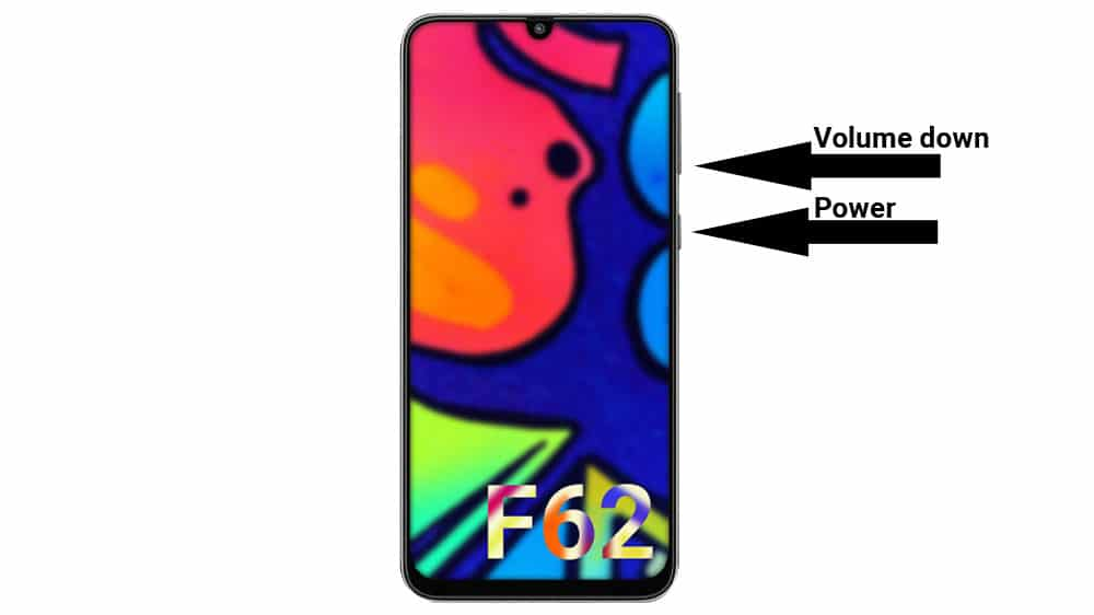 galaxy f62 screenshot key combination
